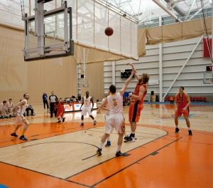 Losing at the hand of UVic, the men's basketball team will be hard-pressed to find post-season play. - Photo by Adam Williams