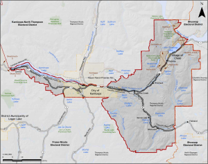 Kamloops - South Thompson includes TRU's campus and all of Kamloops south of the river. - Image courtesy of Elections B.C.
