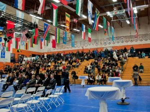 The International Days showcase filled up quickly on Feb. 8. -Photo by Karla Karcioglu