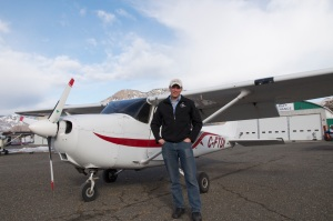 Kieran Van Wagoner hopes to get an aviation club off the ground at TRU. - Photo by Maximilian Birkner