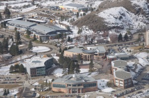 TRU campus as seen from the air. - Photo by Maximilian Birkner