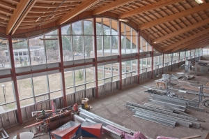 Construction within Old Main. When complete this space will hold classrooms. - PHOTO BY TAYLOR ROCCA