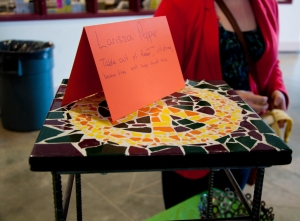 This table was made out of scraps that could have been found around a metal work shop.- PHOTO BY BRENDAN KERGIN