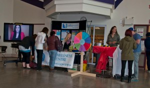 Students visit a booth in Old Main to learn more about the Jack Project and mental illness. - PHOTO BY KARLA KARCIOGLU